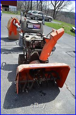Husqvarna snow thrower blower 1130sbexp-used twice-snow king