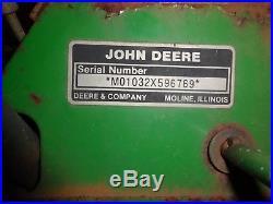 John Deere 1032 snowblower, 10HP, Electric Start, New carburetor
