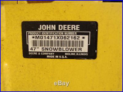 John Deere 318 Snow Blower 2-Stage
