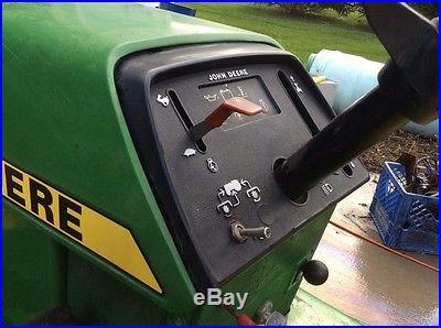 John Deere 330 3 cyl diesel garden tractor with Snow Thrower 36 2 stage