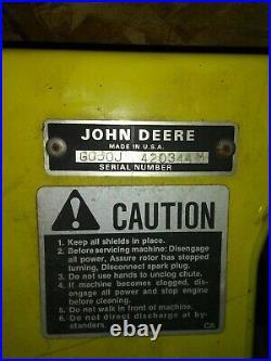 John Deere 400 Snowblower attachment