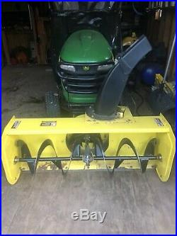John Deere 44 Snow Blower With Tire Chains used on John Deere X500