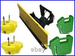 John Deere 54 Snow Plow, Full Hydraulics and 7 Weights for model 435, 445, 455
