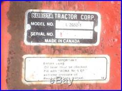 Kubota L2052 Snowblower Fits L series tractors with mid PTO