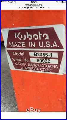 Kubota Snow Blower Model B2056
