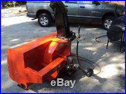Kubota Snowblower Fits Model L series tractors with mid PTO Used Good Cond