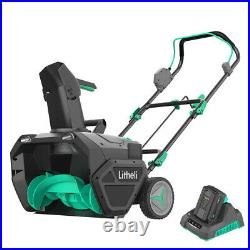 Litheli Snow Blower 20-Inch Brushless Cordless Snow Thrower 4AH Battery&Charger