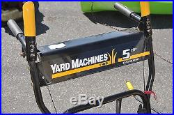 Mtd Yard Machines Electric Start 22 5hp Snowblower Tecumseh