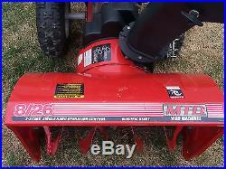 MTD Yard Machines 26 2 Stage Snow Blower Snow Thrower 8 HP Tecumseh