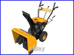 Massimo Snow Blower 24 208cc 2-Stage Electric Start Gas LED Lights Easy Use
