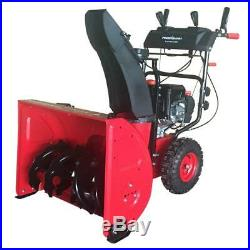 PowerSmart Gas Snow Blower Thrower 24 In Two Stage Electric Start DB72024PA