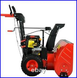 PowerSmart PSS2240-HD 24 inch 212 cc Two-Stage Gas Snow Blower with Electric