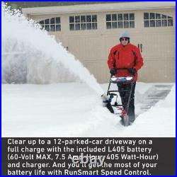 Power Clear 21 in. 60-Volt Lithium-Ion Brushless Cordless Electric Snow Blower