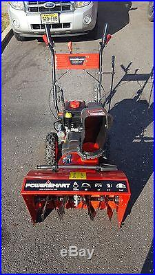 Power Smart DB7651 24-inch 208cc LCT Gas Powered 2-Stage Snow Thrower -Brand New