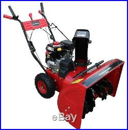Power Smart DB7651 24-inch 208cc LCT Gas Powered 2-Stage Snow Thrower with Elect