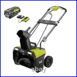 RYOBI 20 in. 40-Volt Single-Stage Brushless Cordless Electric Snow Blower