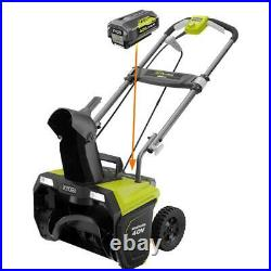 RYOBI Cordless Electric Single Stage Snow Blower 40-Volt 20 Battery Charger