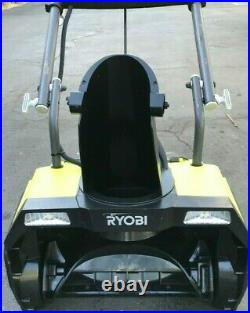 RYOBI RY40805 20 in. 40-Volt Single-Stage Brushless Cordless Snow Blower, GR