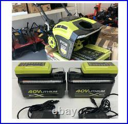 Ryobi RY40806 40v Cordless Brushless 21 Snow Blower With (2) 6AH batteries