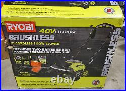 Ryobi RY40860 21 in 40-Volt Brushless Cordless Electric Snow Blower KIT