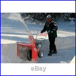 Schneefräse 6,5 PS Schneeräumer 14m Wurfweite E-start 61cm 196m3