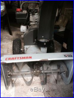 Sears Craftsman Dual Stage 22 Snow Thrower 120 Volt Electric Start Great Condi