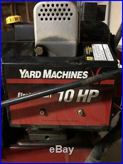Snow Blower Yard Machines By Mtd Steerable Track 10hp 26 Electric Start 2 Stage