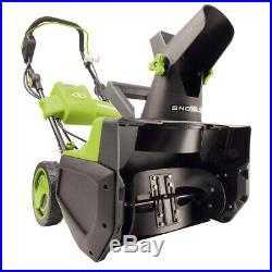 Snow Joe Cordless 18-Inch Snow Blower Brushless Battery & Charger Included