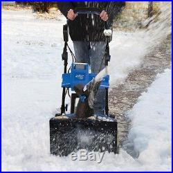 Snow Joe Cordless Snow Thrower Blue (18)