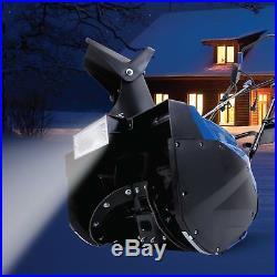 Snow Joe Electric Single Stage Snow Thrower 18-Inch 15 Amp Headlights