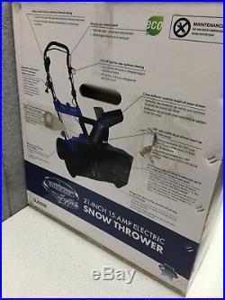 Snow Joe Electric Snow Blower 21 in. 15 Amp LED Headlight Wheels Steel Auger