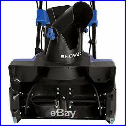 Snow Joe SJ619E Electric Snow Thrower 18-Inch14.5 Amp Motor LED Lights -Blue
