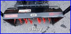 Snow blower craftsman 30 357cc joy stick chute control 2 years old