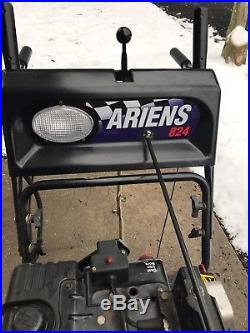 Snowblower Used Ariens ELECTRIC START 824 2 Stage 8 HP Tecumseh 4 Cycle Engine