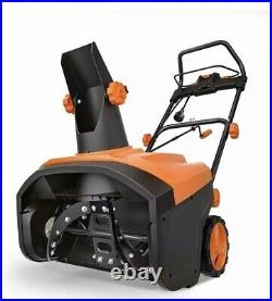 TACKLIFE Snow Blower, 15 Amp Electric Snow Thrower, 20 Inch, 4-Blade Steel Auger