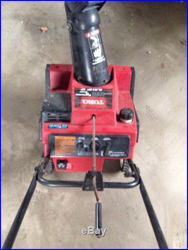 TORO CCR3650 Snow Blower 20 6.5 HP READ