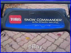 TORO SNOW COMMANDER 24 POWER PROPEL R-TEK Engine MODEL 38600 B&S Engine 141cc