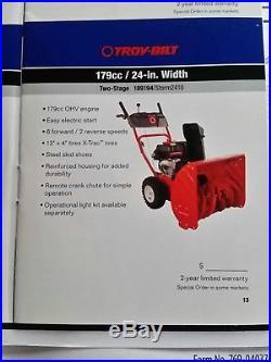 TROY-BILT Two Stage Snow Blower 24
