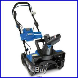 The Rechargeable Electric Snow Blower single-stage blower LED headlight SNOWJOE