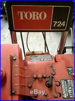 Toro 724 snow blower