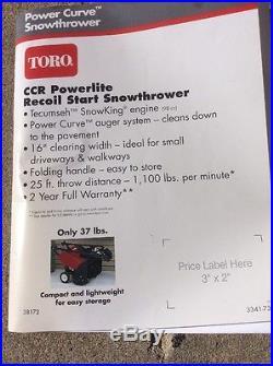 Toro CCR Powerlite Recoil Start Model 38172