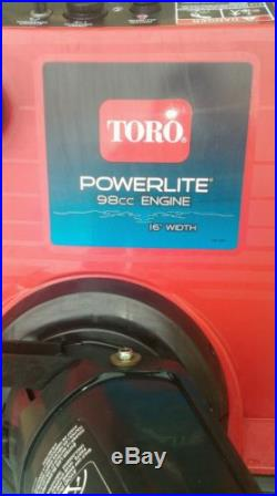 Toro PowerElite 98cc Gas Engine Snow Blower 16 Wide