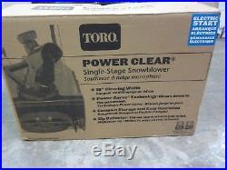 Toro Power Clear Single-Stage Snow Blower 518 ZR 99cc