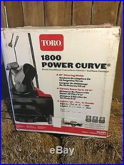 Toro Snow Blower 1800 Power Curve 18 Electric Snow Blower