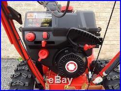 Troy Bilt 26 2 Stage Snow Blower Electric Start Power Steering Quiet Technology