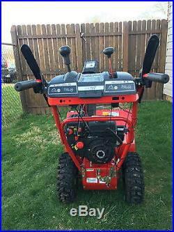 Troy Bilt Storm 2620 Two Stage Snow Blower Thrower Electric Start 208cc Tecumseh