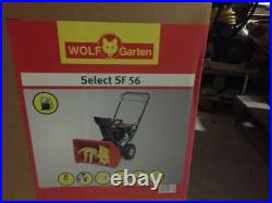 Wolf Garten Select SF 56 Motor Schneefräse NEU 56cm Räumbreite 3kw