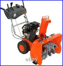 YARDMAX Gas Snow Blower 26 in. Two-Stage Gravel Paved Metal Steel Electric Start