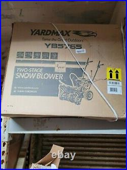 Yardmax Yb5765 Two-Stage Snow Blower, 6.5 Hp, 196Cc, SAME DAY Shipping